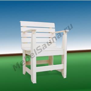 Кресло c подлокотниками для сауны и бани