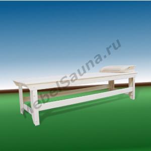 Лежак с подголовником для сауны и бани