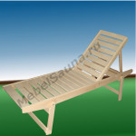 Лежак с регулируемой спинкой для бани и сауны