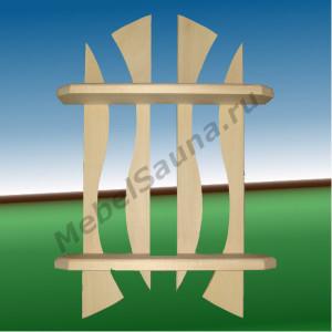 Полка Зиг-Заг настенная для сауны и бани