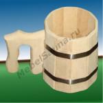 Бондарная кружка для бани и сауны