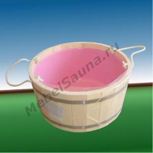 Шайка с пластмассовой вставкой для бани и сауны