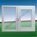 Двустворчатое окно для бани и сауны