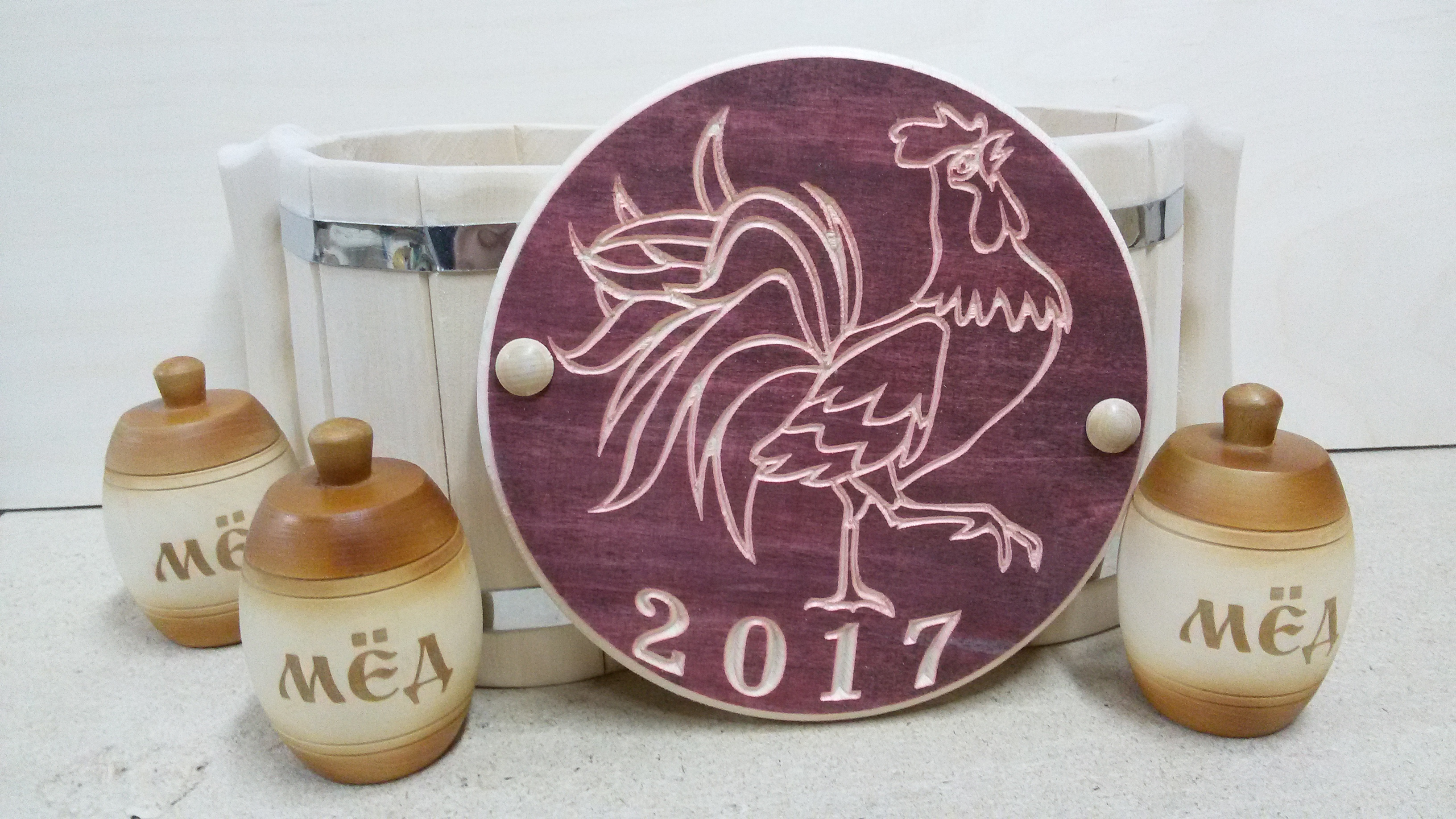 Новогодние подарки для любителей бани и сауны из древа