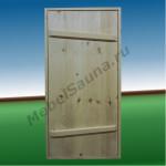 Дверь на иглах для бани хвоя