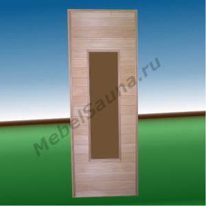 Дверь остекленная для бани и сауны