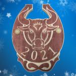 Подарок подкова на Новый Год